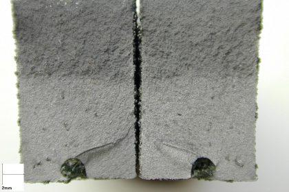 Inclusion de laitier dans une fonte - impact sur la tenue en fatigue.