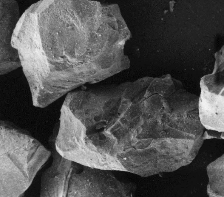 Grains de sable d' Olivine - image MEB.