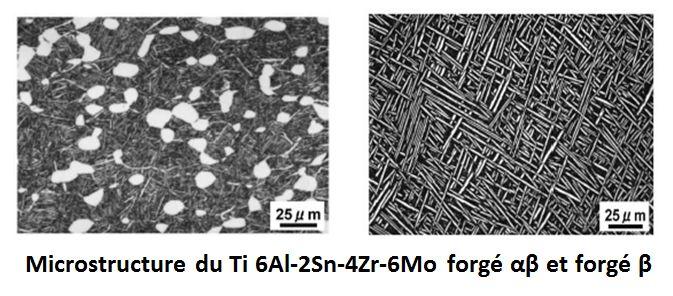 Microstructure du titane forgé.