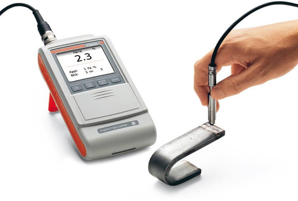 Mesure du taux de Ferrite - Feritscope FMP30 de Fischer Technology