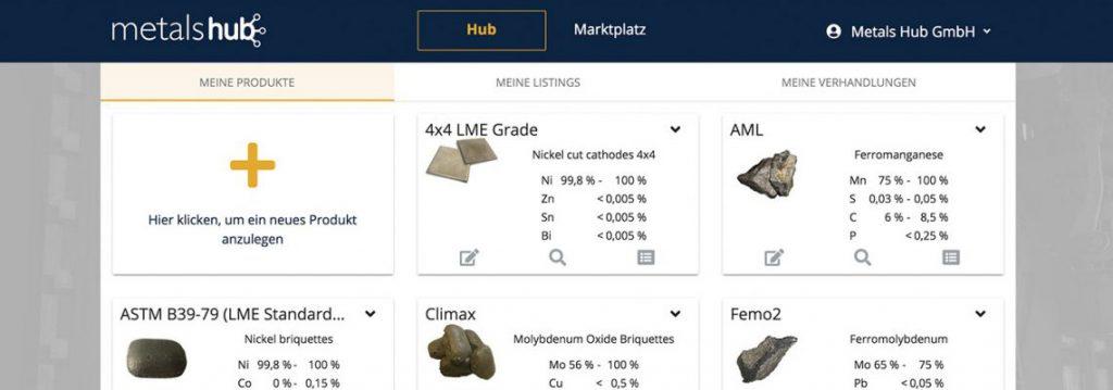 Metashub - achat alliage et ferro-alliage en ligne - industrie 4.0
