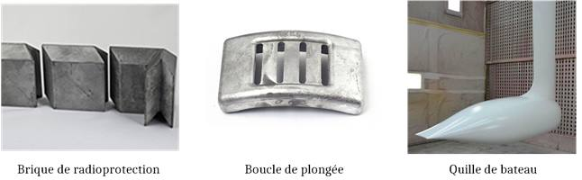 alliages de plomb - applications industrielles - radioprotection - boucle de plongée - quille de bateau.
