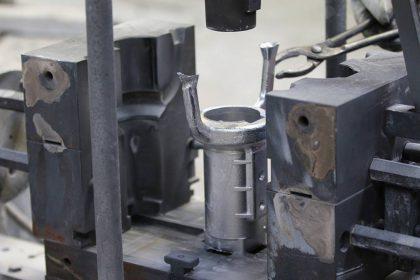 Moulage coquille d'une pièce en aluminium.