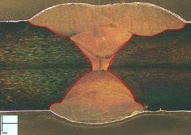 Soudure un acier austéno-ferritique dont les ZAT ne sont pas visibles macrographiquement