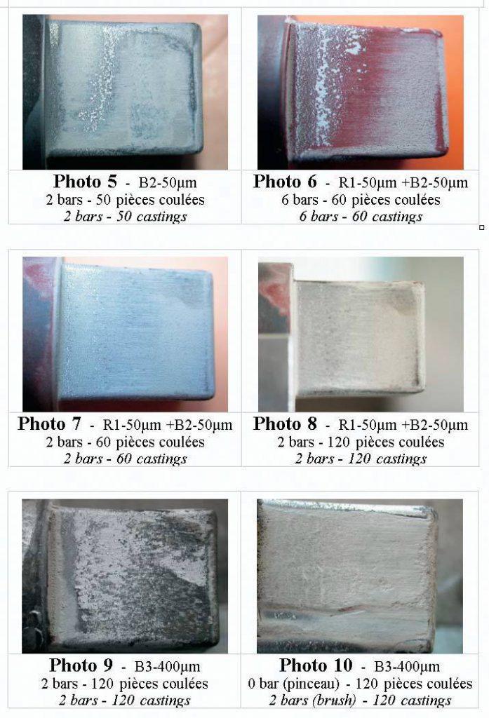 Aspect des dépôts - photo 5 à 10.