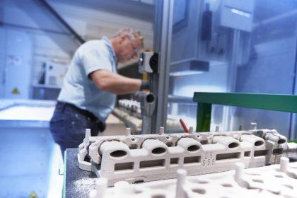 Noyau sable imprimé en 3D - source BMW Group.