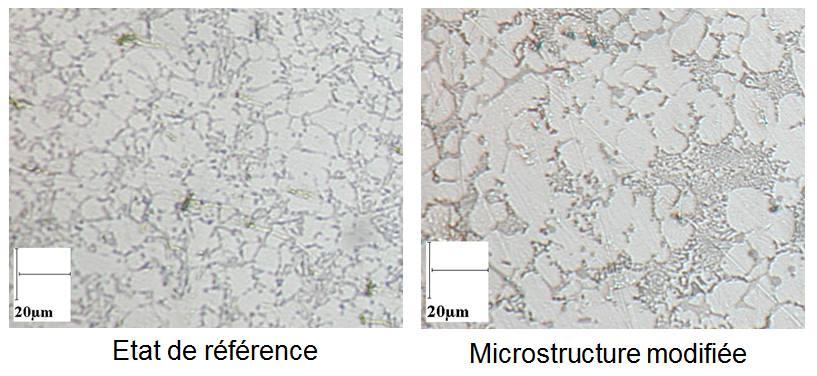 Microstructure AlSi9Cu3 modifiée au strontium.