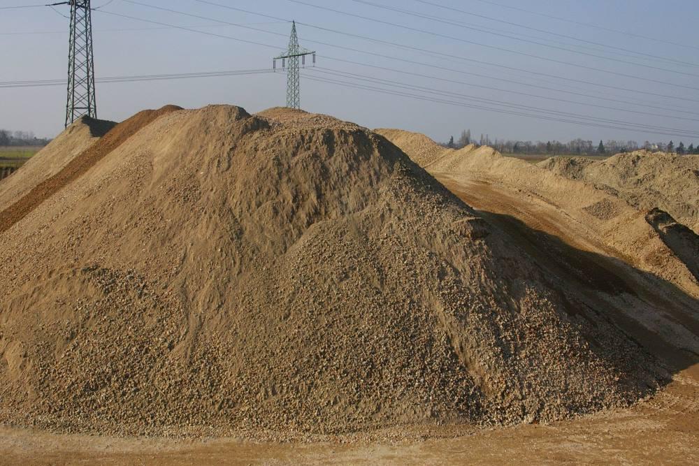 Stockage de sable recyclé de fonderie.