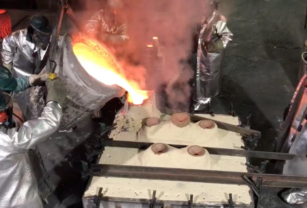 Fusion et coulée alliages cuivreux en moule sable