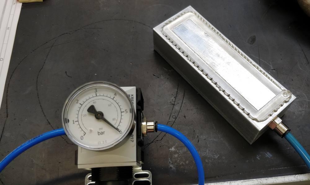 Figure 10 - échangeur thermique - test d'étanchéité air eau.