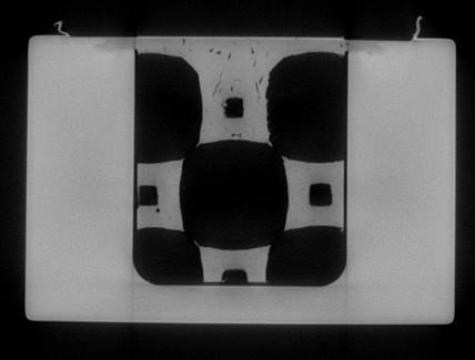 Figure 12 - Tomographie X de la zone de soudure - vue sur une coupe de l'échangeur thermique.