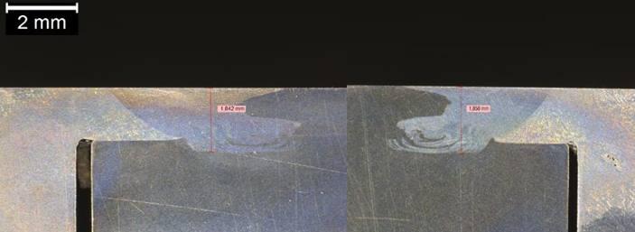 Figure 9 - macrographie de la zone soudée.