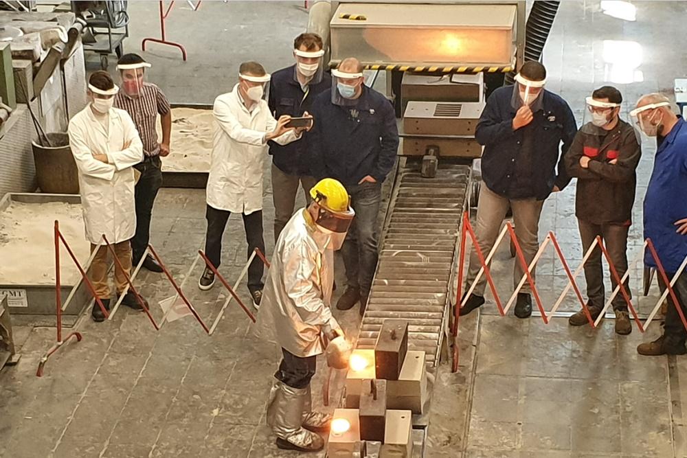 Formation en atelier chez CTIF - apprentissage des bases de la fonderie.