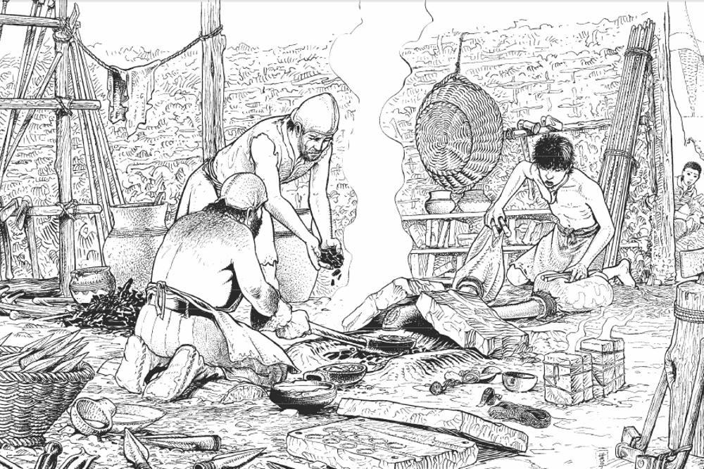 La métallurgie au néolithique cuivre bronze et fer.