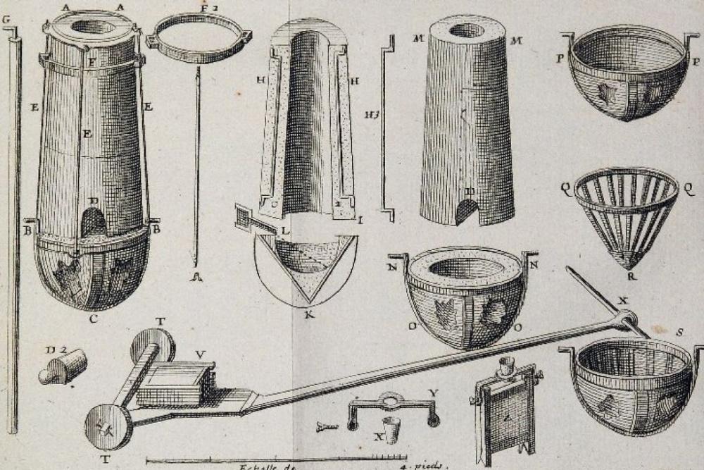 Moyens de fusion du fer et de la fonte - Reaumur.