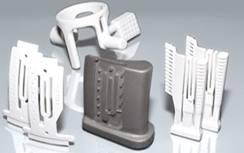 Noyaux ceramiques issus de fabrication additive - source Lithoz.