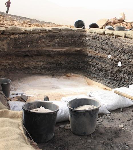 Fouilles archéologiques - mines de cuivre de Timna.