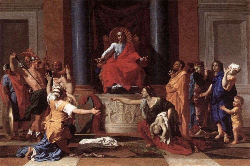Le roi Salomon de Nicolas Poussin.