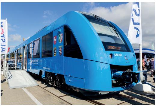 Train à hydrogène Alstom Coradia iLint à InnoTrans 2016 à Berlin.