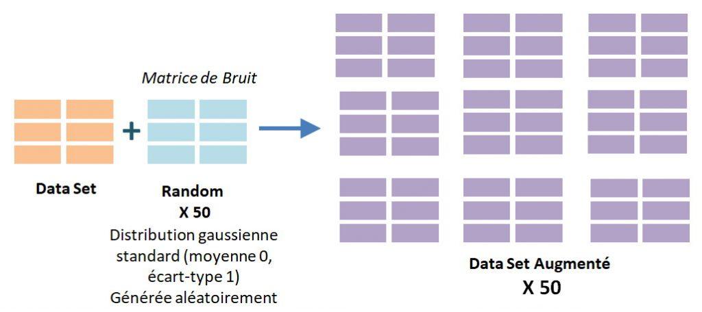 Data Set augmenté par ajout de bruit aux données initiales.