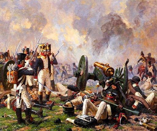 1200 canons à la bataille de la Moskowa en 1812.