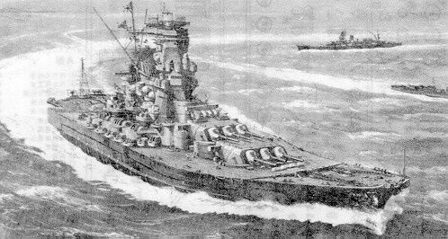 Le cuirassier Yamato, avec son canon de 147 tonnes.