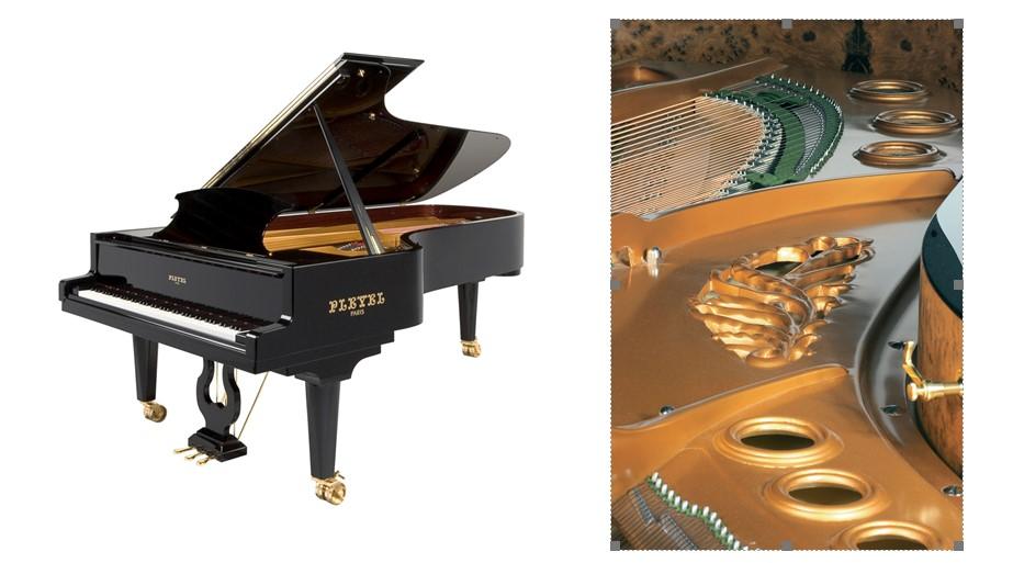 Piano a queue Pleyel - Crédit photo Pianos Pleyel, piano de concert modèle P280.