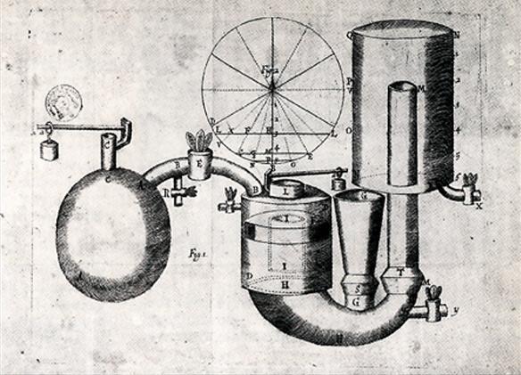 Invention de la machine à vapeur - 1712.